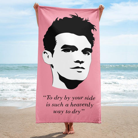 "The Smiths - ""To dry by your side is such a heavenly way to dry"" - Pink - Beach Towel"