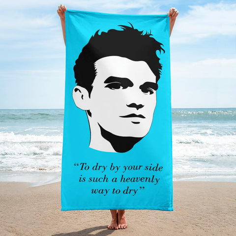 "The Smiths - ""To dry by your side is such a heavenly way to dry"" - Light Blue - Beach Towel"