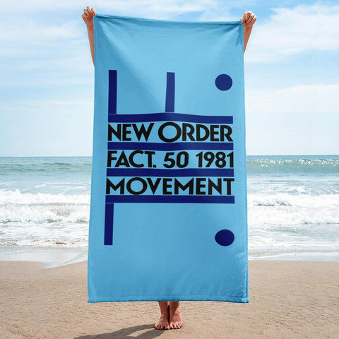 NEW ORDER - MOVEMENT - 1981 - Beach Towel