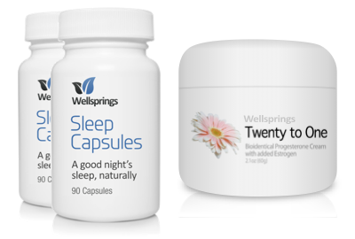 Wellsprings Sleep Capsules and 20-1 Cream Pack