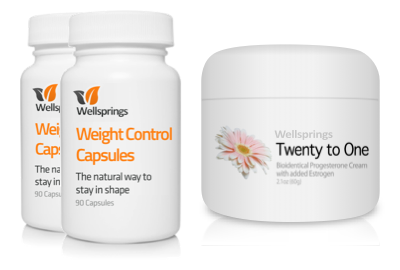 Wellsprings Weight Control Capsules and 20-1 Cream Pack
