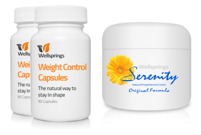 Wellsprings Weight Control Capsules and Serenity Cream Pack