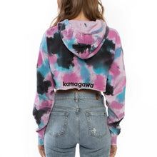 Load image into Gallery viewer, Save the Reef Crop Top Sweatshirt (Bubble Gum)
