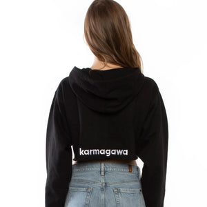 Karmagawa Infinity Crop Top Sweatshirt (Black)