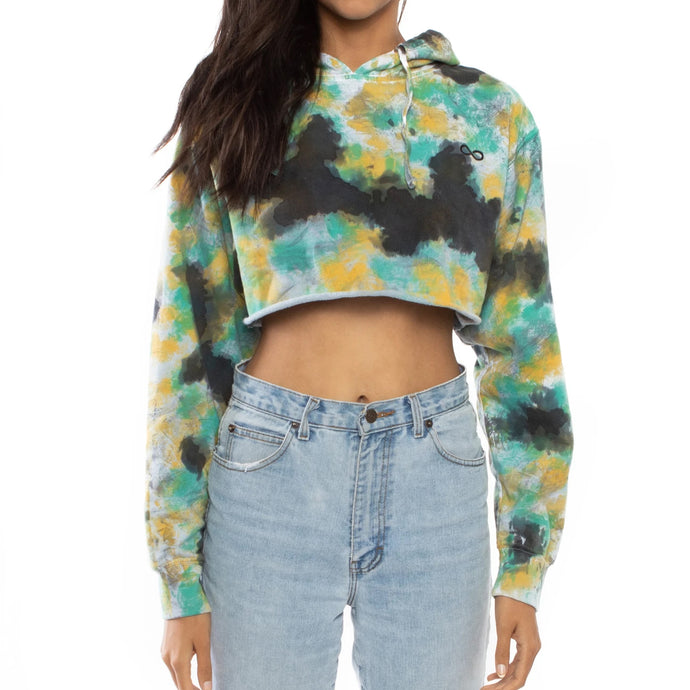 Save the Reef Crop Top Sweatshirt (Coral)