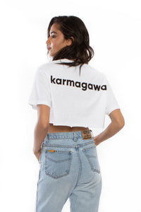 Karmagawa Crop Top (White)