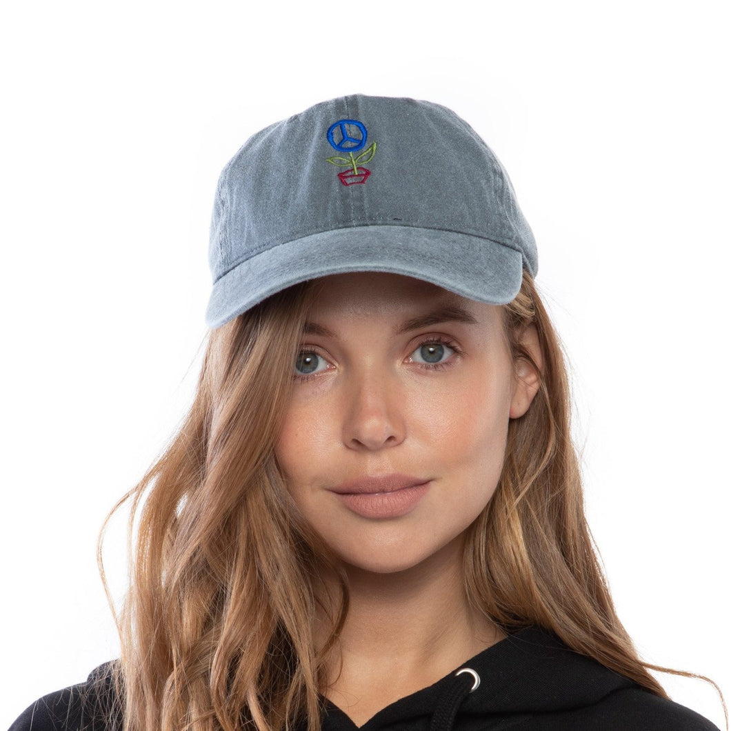 Save the Planet Dad Hat (Grey)