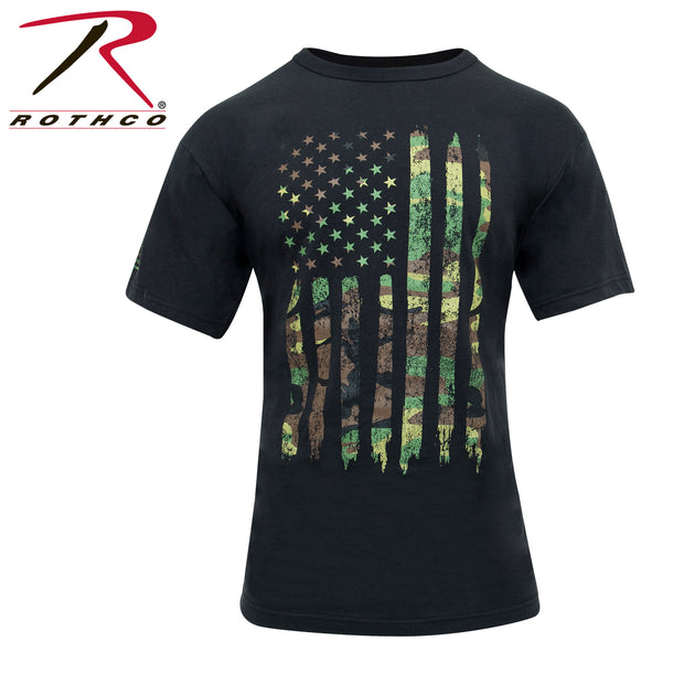 Camo US Flag Athletic Fit T-Shirt