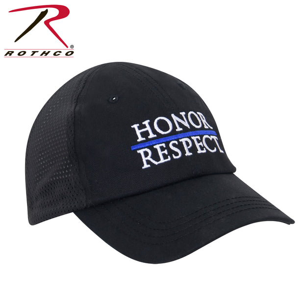 Thin Blue Line Honor and Respect Mesh Back Tactical Cap - BraveHeroes