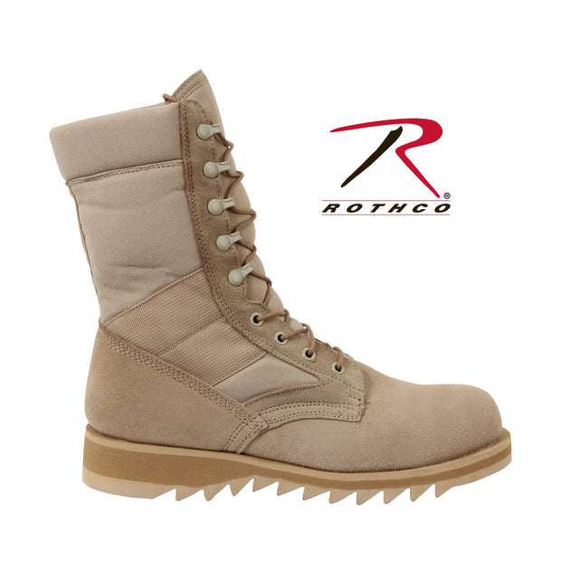 Type Ripple Sole Desert Tan Jungle Boots