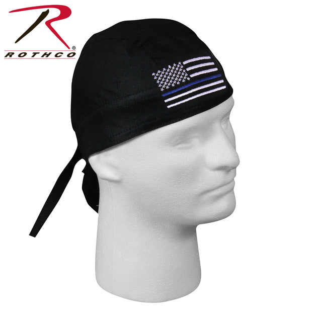 Thin Blue Line Flag Headwrap - BraveHeroes