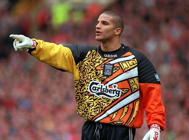 1995-96 Liverpool Goalkeeper Shirt Orange (Excellent) - S-Kop Clobber