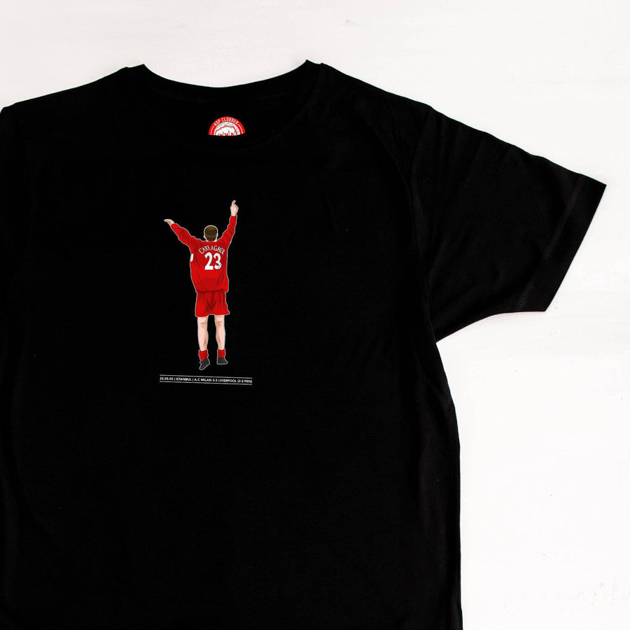 Carragher Istanbul Celebration Liverpool T-Shirt-Kop Clobber-lfc-store-unofficial-liverpool-shop
