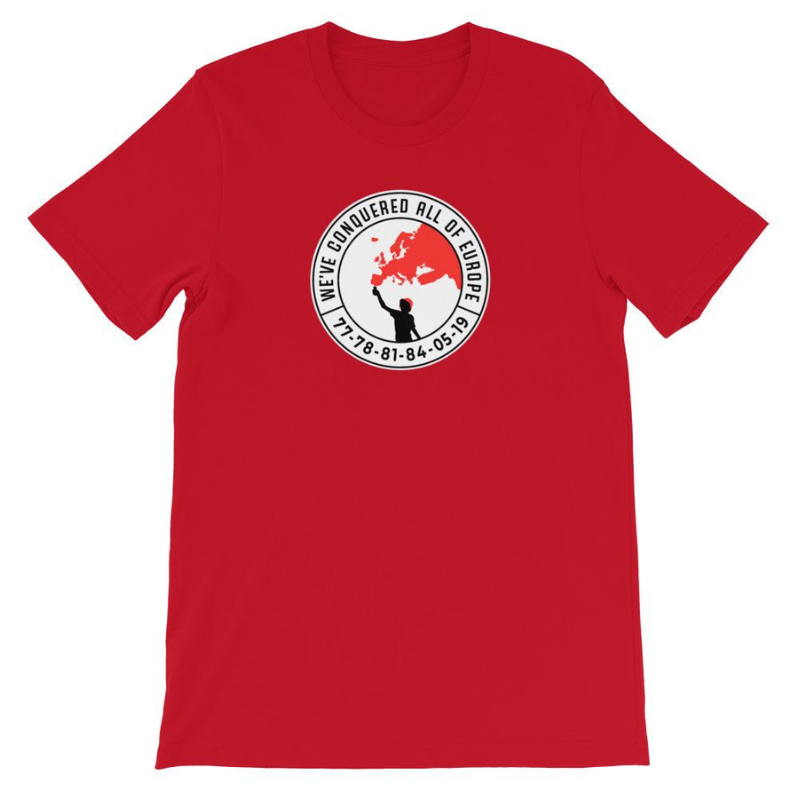 'Conquered all of Europe' Liverpool FC T-Shirt-Kop Clobber