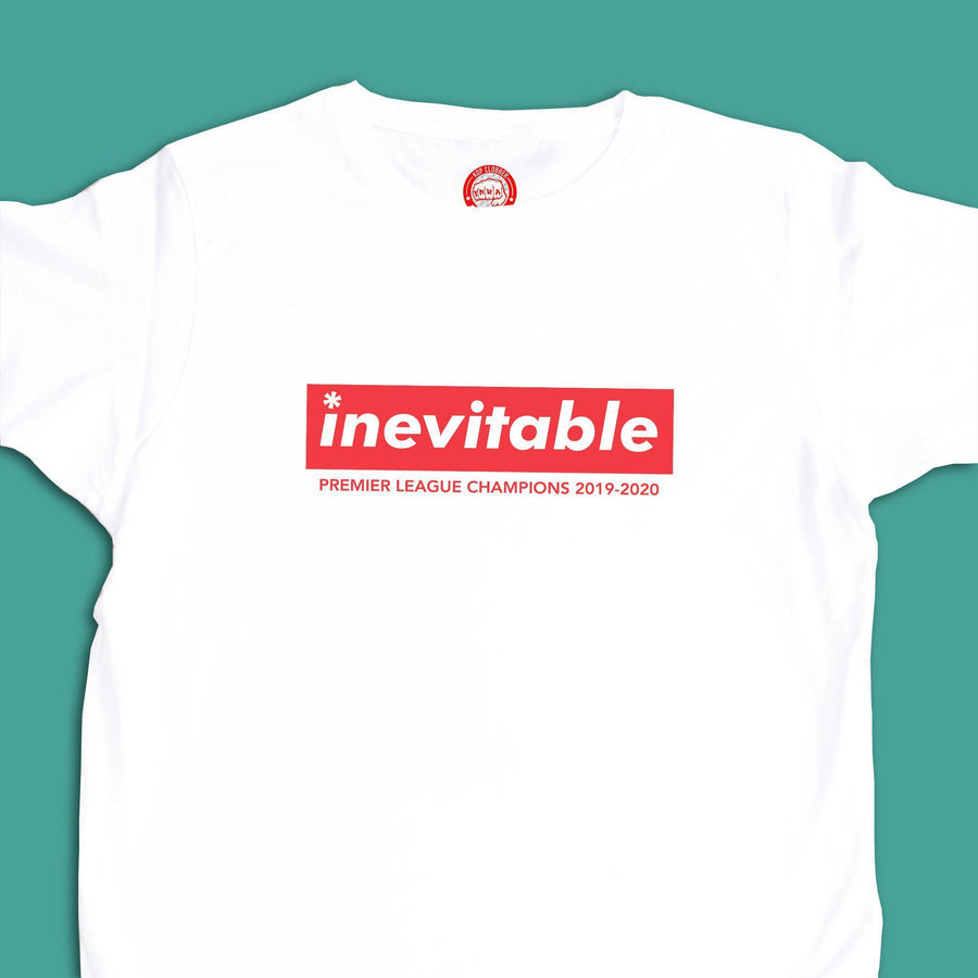 Inevitable Liverpool Premier League Champions T-Shirt-Kop Clobber-lfc-store-unofficial-liverpool-shop