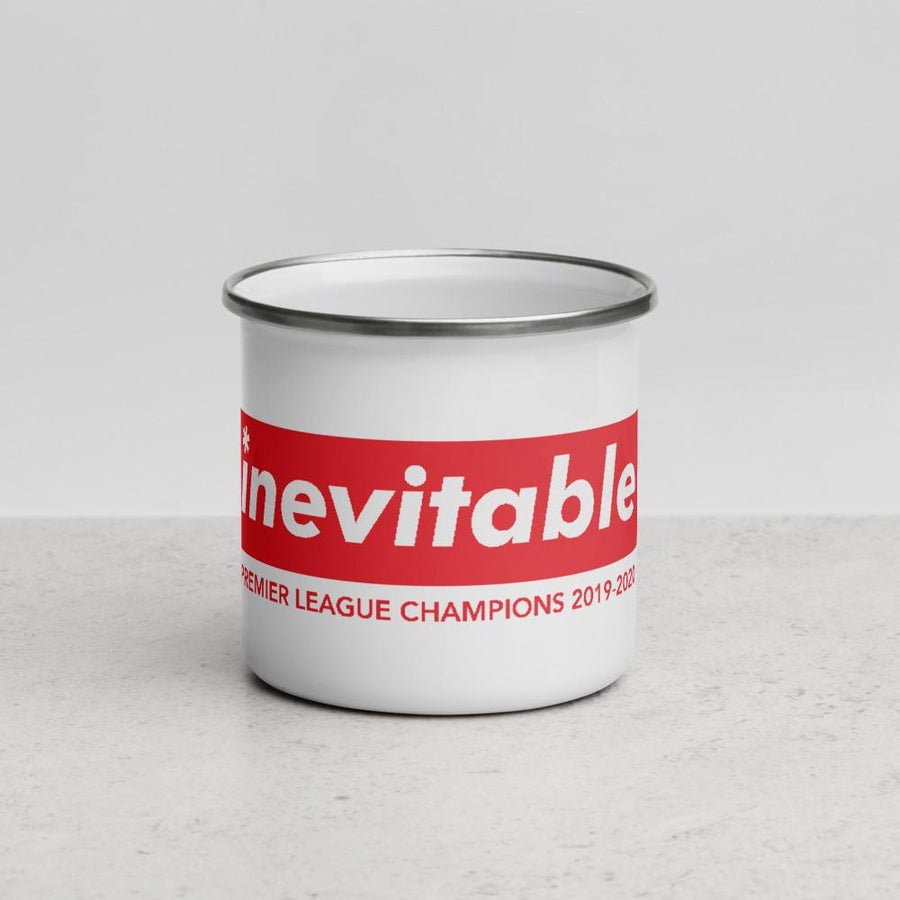 Liverpool FC Inevitable Champions Enamel Mug-Kop Clobber-lfc-store-unofficial-liverpool-shop