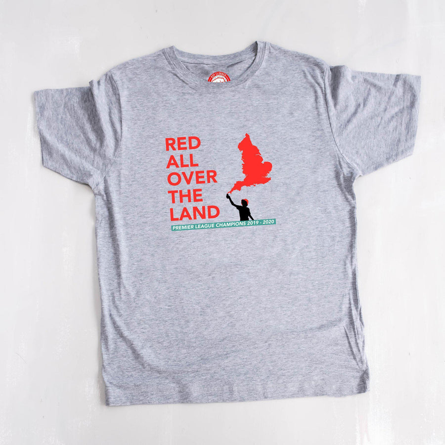 Red All Over The Land Liverpool T-Shirt-Kop Clobber-lfc-store-unofficial-liverpool-shop