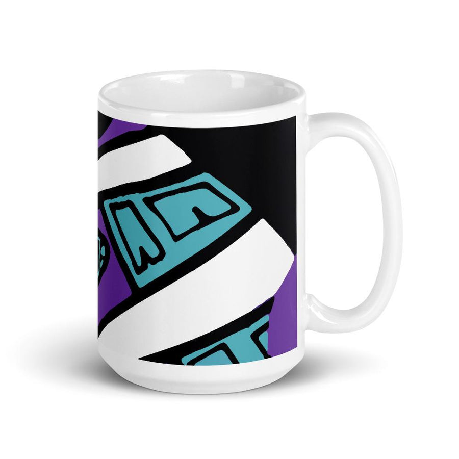 Retro 90's Mug Purple-Kop Clobber