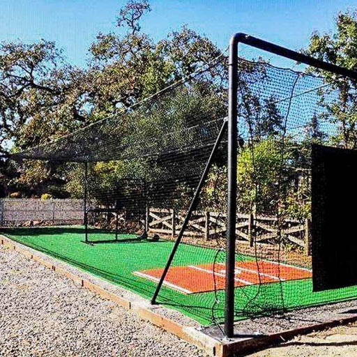 BATTING CAGES INC Batting Cage 12'Hx12'Wx35'D / Yes Iron Horse Complete Frame Kit