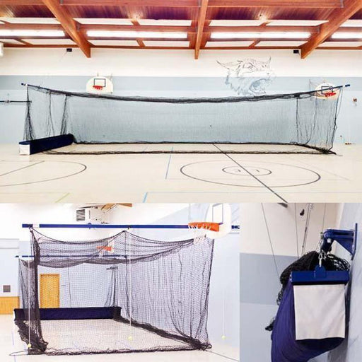 BATTING CAGES INC Batting Cage 35' The WOMBAT Retractable Batting Cage (Multi-Use Facility System)