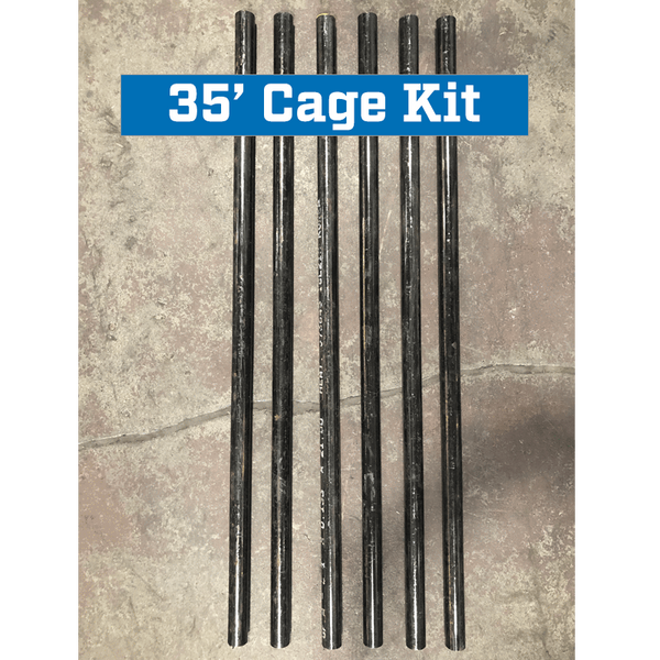 Commercial Batting Cage Frame Pole Reinforcement Kit 35' Cage