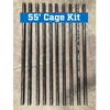 Commercial Batting Cage Frame Pole Reinforcement Kit 55' Cage