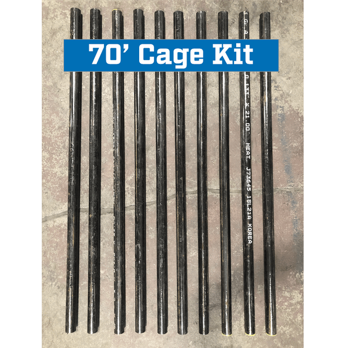 Commercial Batting Cage Frame Pole Reinforcement Kit 70' Cage
