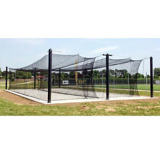 BATTING CAGES INC Mastodon 12'H x 12'W x 55'L / Double Mastodon™ Engineered Batting Cage System