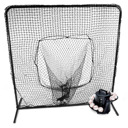 Soft Toss & 7x7 Catch Net Combo Square Screen w/ Soft Toss Net & EZ TOSS