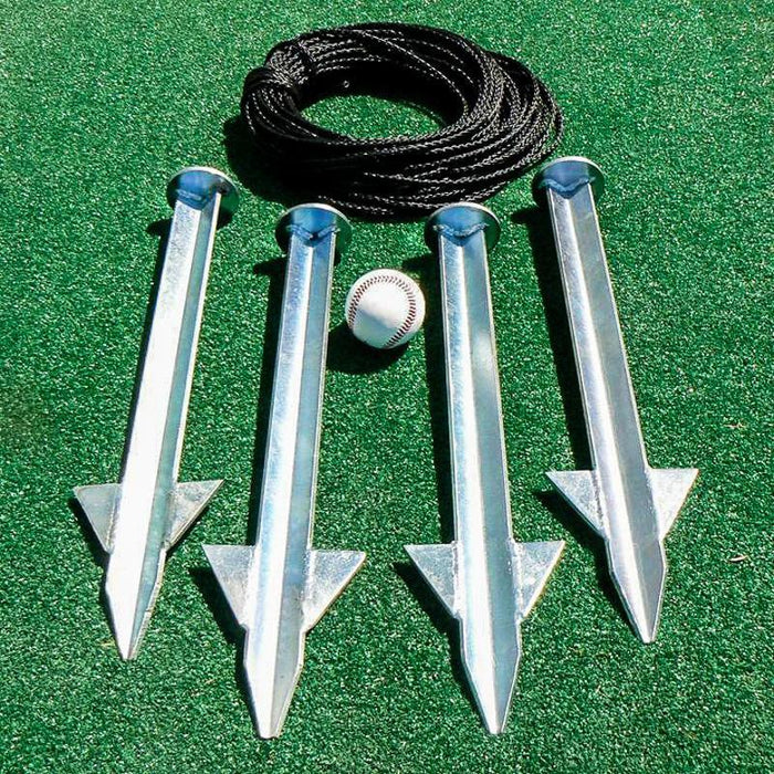 Heavy Duty Batting Cage Stake Down Kit 35'