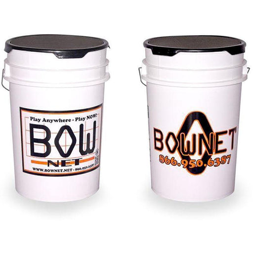 BOWNET Field Equipment 6 Gallon Bownet Ball Bucket /w Foam Padded Seat