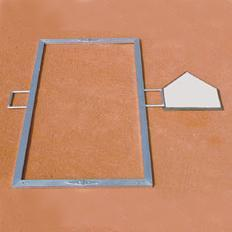 Lightweight Aluminum Folding Batter's Box Template Youth Size 3'x6'