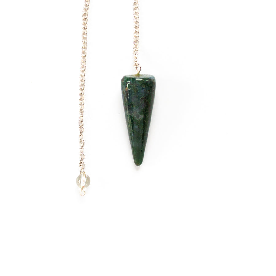 Pendulum - Faceted, Dark Green