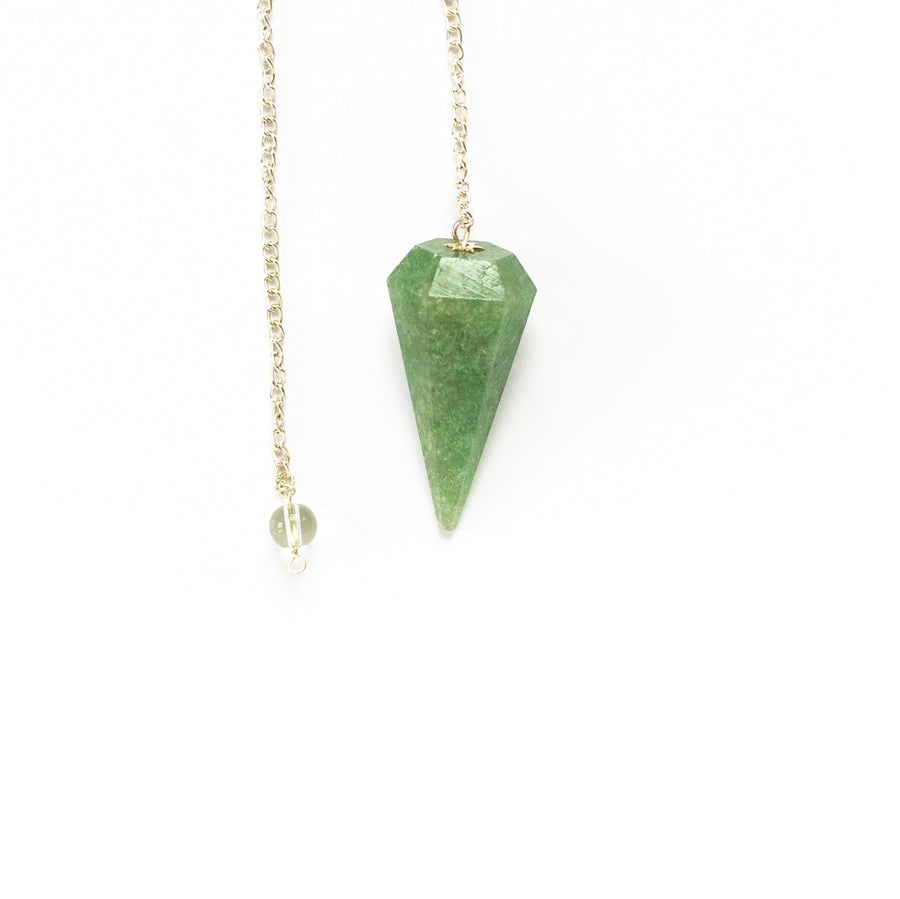 Pendulum - Faceted, Light Green