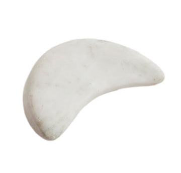 Marble Crescent Moon Stone