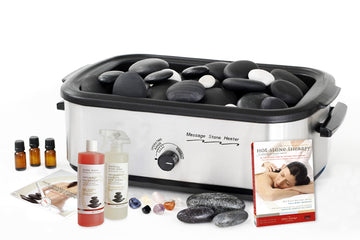 Basalt Ultimate Deluxe Complete Massage Stone Kit-60 Stones, Digital DVD, 18 QT Heater & Accessories