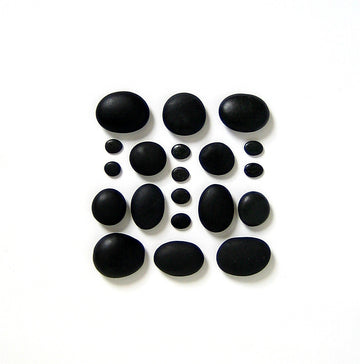 Basalt Mini Massage Set - 20 Basalt Stones