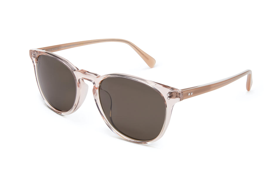 [Custom] Pia's Rocket MTO P3 Classic Rose-Tinted Crystal & Blush with Brown Polarized Lenses $10 Top-Up (Crystal Strikes Back)
