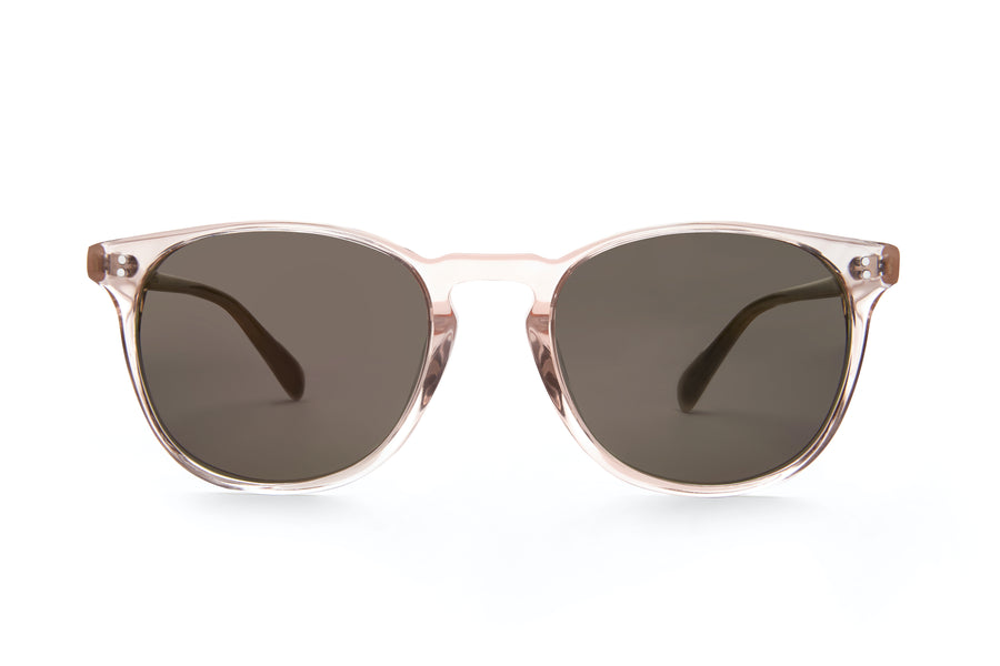 Rocket MTO P3 Classic Rose-Tinted Crystal & Blush with Brown Polarized Lenses (Crystal Strikes Back)