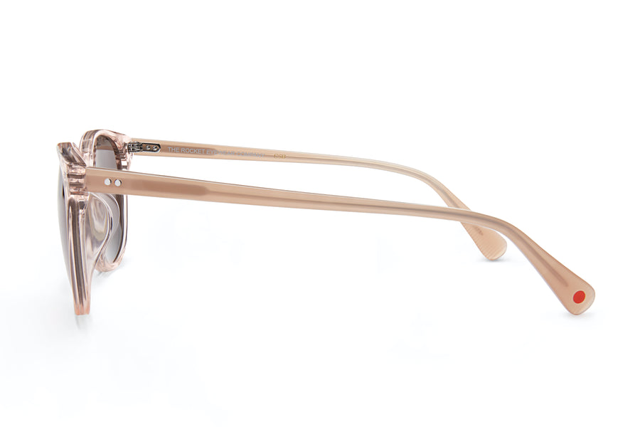 [Custom] Gelo's Wife's Rocket MTO P3 Classic Rose-Tinted Crystal & Blush with Brown Non-Polarized Lenses (Crystal Strikes Back)