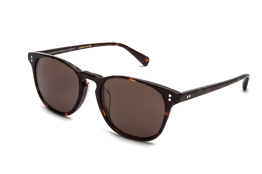 Rocket Eyewear Company P3 Classic Sunglasses Mahogany Tortoise with Brown polarized lenses