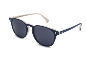 Rocket Eyewear Company P3 Classic Sunglasses Indigo Seashell with Blue polarized lenses