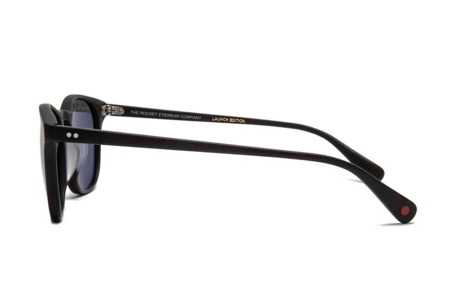 Rocket Eyewear Company P3 Classic Sunglasses Matte Black with Grey polarized lenses
