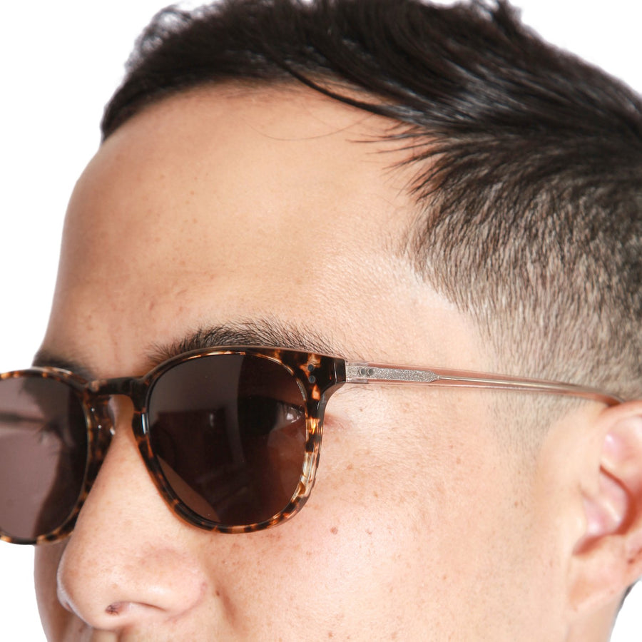 Rocket P3 Classic Caviar Tortoise & Rosé with Brown Polarized Lenses (Tortoise and Crystal)