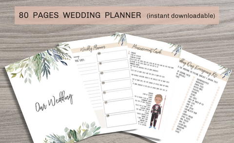 image about Printable Wedding Planner called 80 Web pages Printable Wedding ceremony Planner