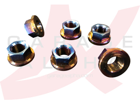 Titanium Strut Tower Nuts