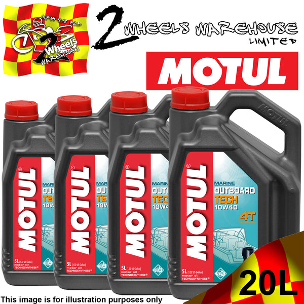 5L-20L MOTUL OUTBOARD TECH 10W40 MARINE SEMI SYNTHETIC OIL