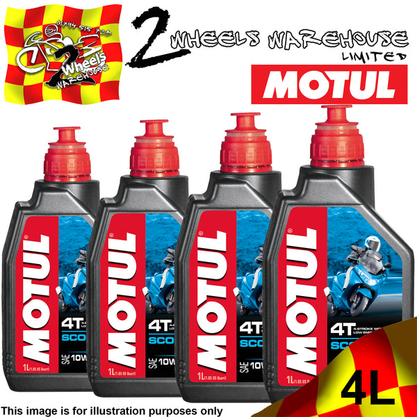 1L-4L MOTUL SCOOTER SAE 10W40 MB MINERAL ENGINE OIL FOUR STROKE MOPED 4T