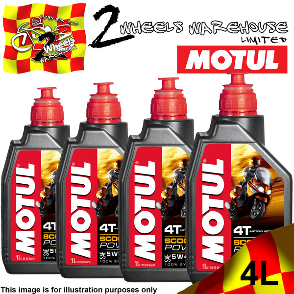 1L-4L MOTUL SCOOTER POWER SAE 5W40 MA 4T ENGINE OIL FULLY SYNTHETIC