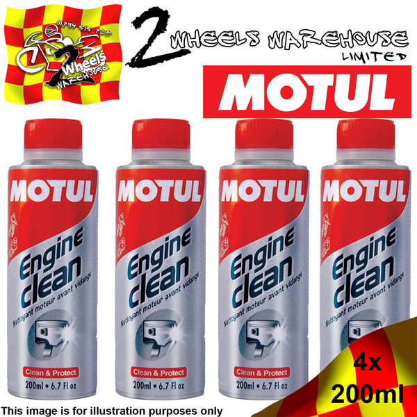 1x-4x 200ml MOTUL ENGINE CLEAN INTERNAL PETROL & DIESEL OIL DRAIN